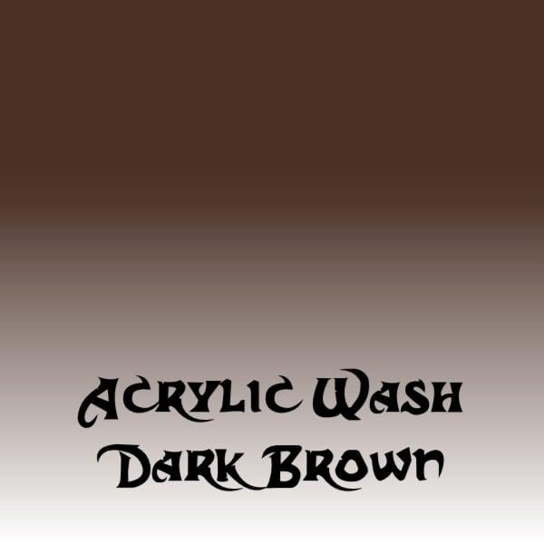 Acrylic Wash – Dark Brown (15ml)