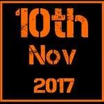 10th November 2017