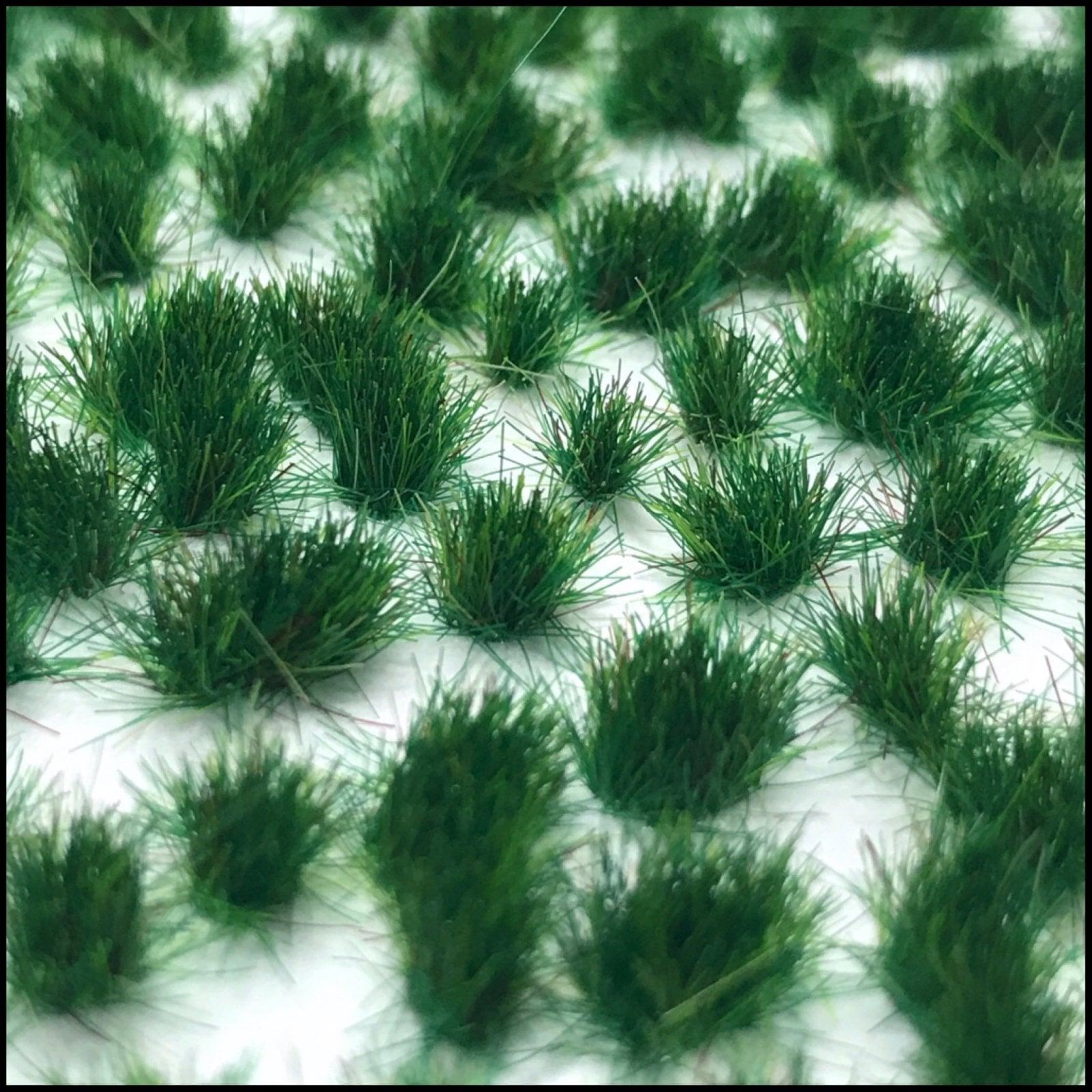 Grass Tufts (4mm) – Dark Green Grass (Dots or Natural)