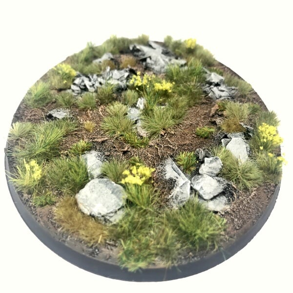 120mm Oval Pre-Painted Bases – Alpine Pass Theme