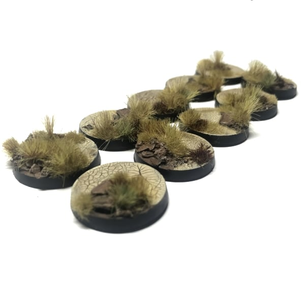 25mm Pre-Painted Bases – Wasteland Theme