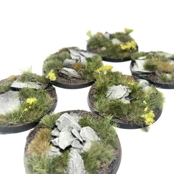 40mm Pre-Painted Bases – Alpine Pass Theme