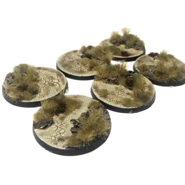 40mm Pre-Painted Bases – Wasteland Theme