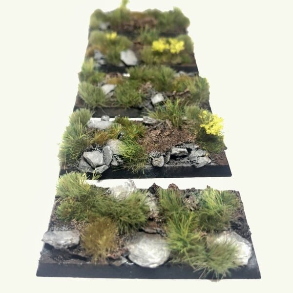 Cavalry Pre-Painted Bases – Alpine Pass Theme