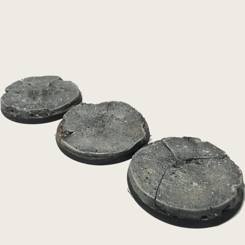 50mm Pre-Painted Bases – Ferrocrete Theme