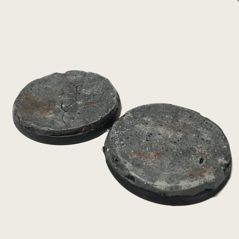 60mm Pre-Painted Bases – Ferrocrete Theme
