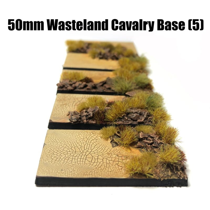Cavalry Pre-Painted Bases – Wasteland Theme
